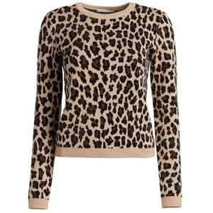 Alice + Olivia leopard animal print sweater
